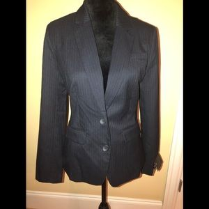 Banana republic blue black pinstriped blazer sz 8